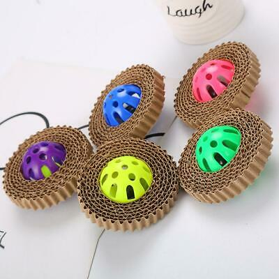 Kitty Pet Cat Scratch Board With Bell Ball Toy Corrugated Paper Claw Plastic