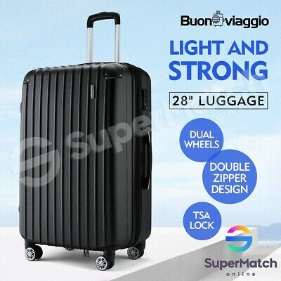 "28"" Luggage Suitcase Trolley Hard Case Travel Bag Organizer Lightweight w/ TSA"