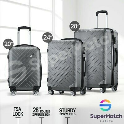 "28"" Luggage Suitcase Trolley Hard Case TSA Travel Bag Storage Organizer 3PCS/Set"