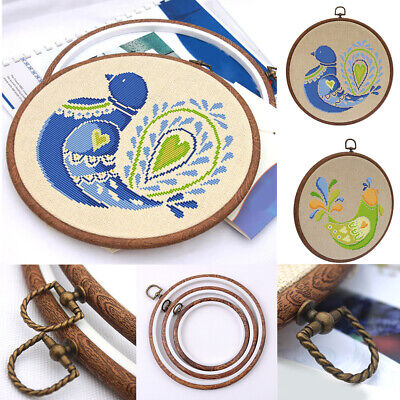 Photo Frame Cross Stitch Hoop Ring Embroidery Circle Sewing Kit Frame Craft
