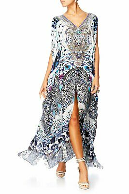 130a4225fb Camilla Franks In The Constellations Split Front And Sleeve Long Gown Kaftan