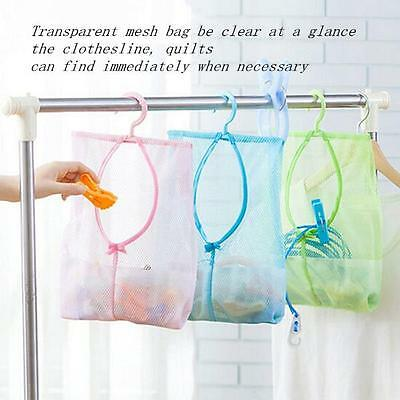 Clothes Pin Bag Canvas Laundry Sturdy Net Clothespin Holder Storage Organizer RU