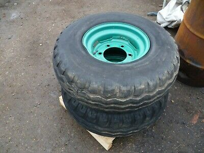 Pair of 11.5/80-15.3 wheels & tyres 6 stud .....agricultural use.. .....£150+VAT