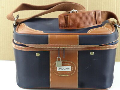 Vintage Jaguar Travel Bag Cosmetic Makeup Carry On Overnight Suitcase Luggage