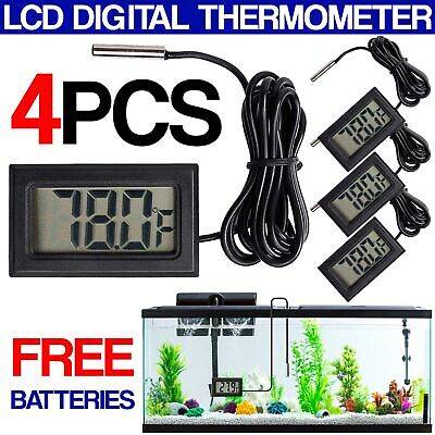 4 Set Digital Thermometer Hygrometer with LCD Display for Fridge Freezer Fish