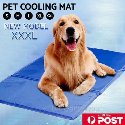Pet Cool Gel Mat Dog Cat Bed Cooling Pad Seat Cover Non-Toxic Summer 5 Sizes AU