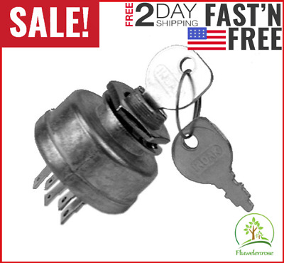 Ignition Switch Lawn Tractor Key Mower Starter Craftsman Riding Replaces Murray.