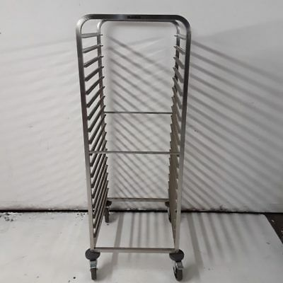 Commercial Gastro Trolley Double Stainless Blanco