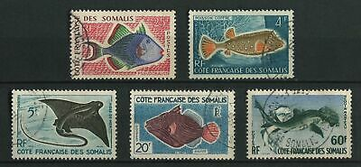 French Somali Coast Fishes from 1958 Definitive set : vfu cat £14.20