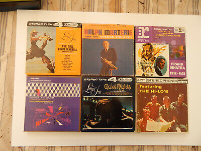 6 Stereo Reel-to-Reel Pre-recorded Tapes. Various Artists and Titles