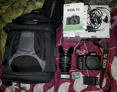 Canon EOS 7D 18.0MP Digital SLR Camera - Kit w/ EF-S IS 28-135mm Lens + More