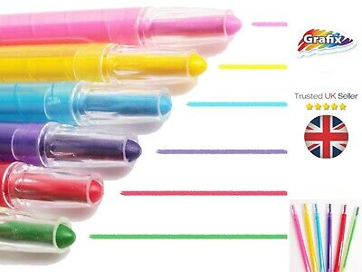 SET OF 10 TWISTABLE CRAYONS Easy Twist Up Wax Twister Extendable Colourful Pens