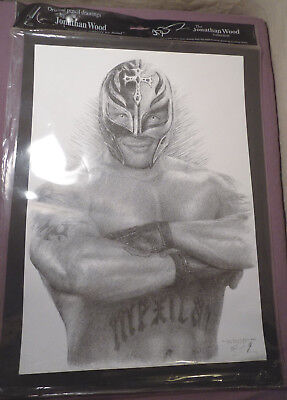 """REY MYSTERIO PP SIGNED 10/""""X8/"""" PHOTO REPRO TNA WWE WRESTLING"""
