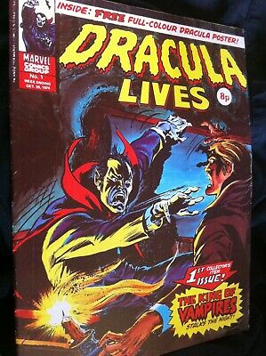 DRACULA LIVES NO 1 with poster and Dracula lives special edtn