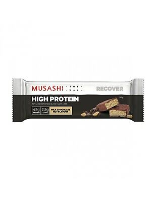 Musashi High Protein Low Carb Chocolate Nut 90g x 12
