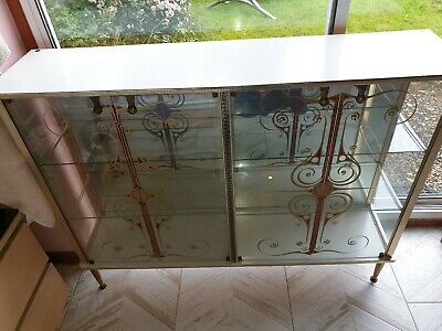 Vintage 1950s 1960s Cocktail China Cabinet