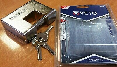 Veto Heavy Armoured Brass Padlock 90mm