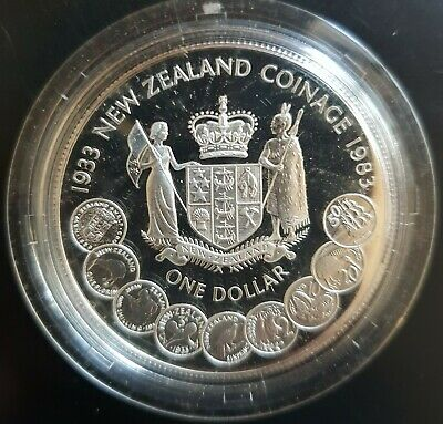 1983 New Zealand:  $1 (Decimal Coinage) Silver Proof......
