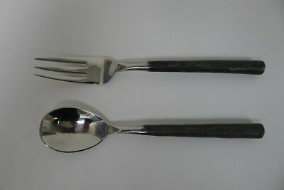Vintage Rangthong Design Stainless Steel Flatware (Set of 2) Dessert