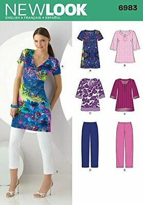 New Look Sewing Pattern 6983 Misses Tunic Dress Top Size A 10-22