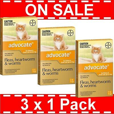Advocate for Kittens and Small Cats Up to 4kg 3 Pack ( 3 x 1 Pack )