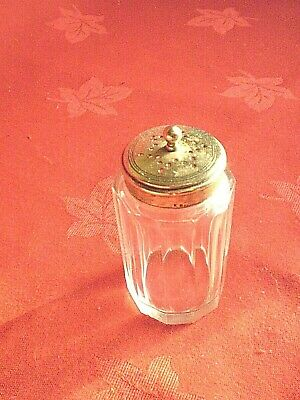 Vintage Silver Plate & Glass Pepper Pot