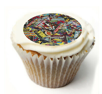 Cupcake Topper Marvel personalised Rice, Icing sheet 1027