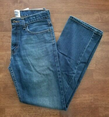 Levis Boys Jeans Size 18 Blue Denim Dark Wash Slim Straight Fit Jeans