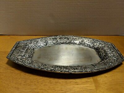 Derby S P Co Silver Plate Serving Tray Oval 01010 LOT N