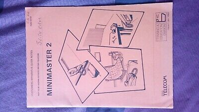BT vintage  'Customer Apperatus Guide Notes' for the Minimaster 2 phone system
