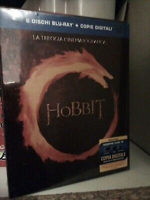 LO HOBBIT - TRILOGIA CINEMATOGRAFICA - 6 BLURAY  - NUOVO blu-ray
