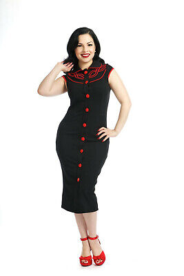 Voodoo Vixen - Sexy & Form Fitting Blossom Wiggle Dress - Rockabilly & Pinup!