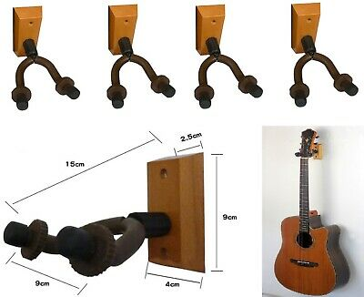 4 Pack Guitar Wall Mount Hanger Stand Rack Hook Holder for Guitar Ukulele Bass