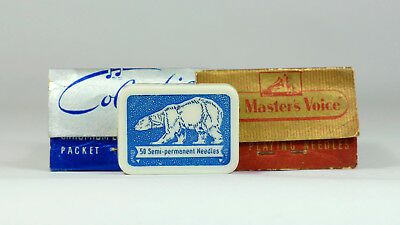 HMV His Master's Voice COLUMBIA & POLAR BEAR GRAMOPHONE NEEDLES