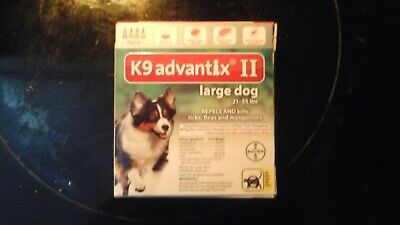 Bayer K9 Advantix II for  Large Dogs 21-55 lbs - 4 Pack,