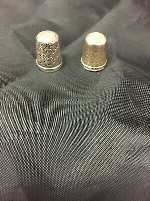 2 X Solid Silver Thimbles Both Hallmarked
