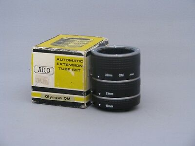 Aico Automatic Extension Tube Set for Olympus OM Cameras