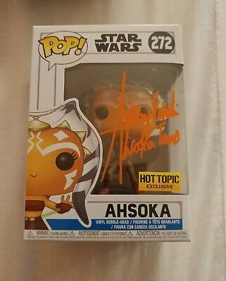 2018 Funko Ahsoka POP SDCC COMIC CON SIGNED AUTOGRAPH ASHLEY ECKSTEIN 272 EARLY
