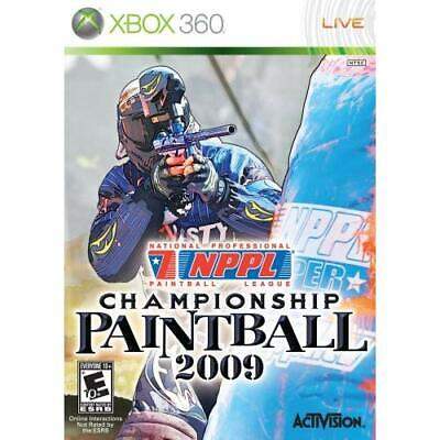 NPPL Championship Paintball 2009 For Xbox 360 Very Good 4E