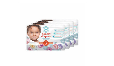 The Honest Company Size 3 Baby Disposable Diapers Rose Blossom 136 Count