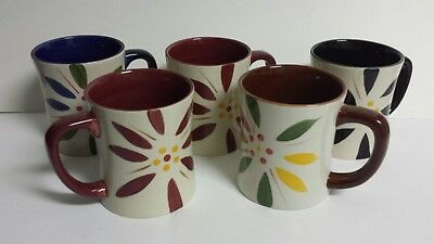 Temp-tations Old World Vivid - 5 Different Used Mugs Coffee Cups - Free Ship