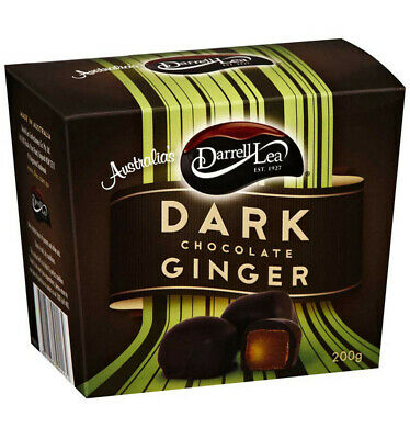 Darrell Lea Dark Chocolate Ginger 200g x 6