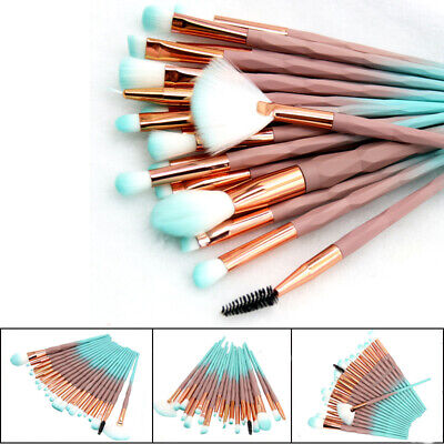 20PCS Unicorn Makeup Brushes Set Foundation Blush Eyeshadow Eyebrow Brush Tools