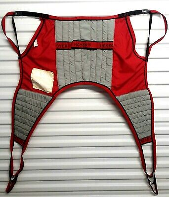 Hoyer Patient Lift U-Sling Red Padded 4 Four Point