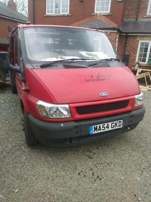 Ford Transit 2004 Drop Side Flat Bed Truck With Tail Lift Lwb