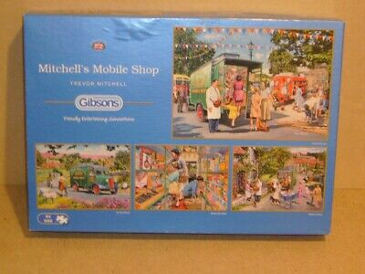 GIBSONS 4 x 500 Piece Jigsaw Puzzles MITCHELL'S MOBILE SHOP. By Trevor Mitchell.