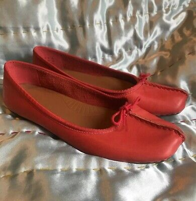 490267323 Clarks Artisan Sz 6.5 D Freckle Ice Soft Leather Coral Peach Slip On Flat  Shoes