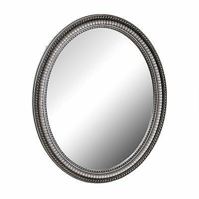 Zenith PMV2532BB, Oval Mirror Medicine Cabinet, Antique Pewter (B)