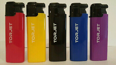TORJET WINDPROOF JET FLAME ELECTRONIC LIGHTER 5 X (Refillable)