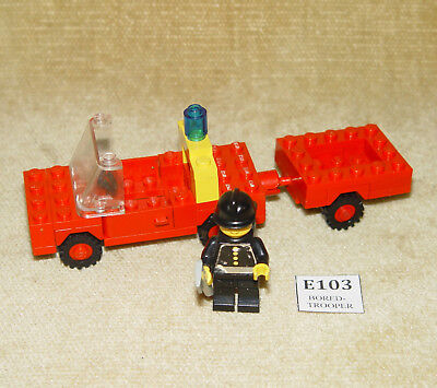 LEGO Sets: Classic Town: 640-2 Fire Truck and Trailer (1978) 100% VINTAGE w/FIG